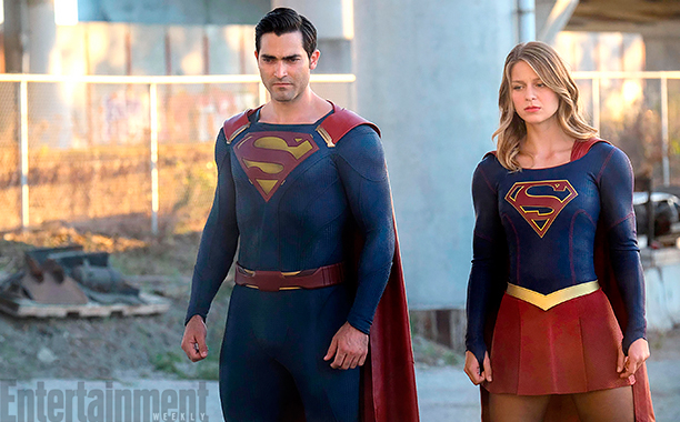 "Supergirl ""The Last Children of Krypton"" Season 2, Ep 2 Tyler Hoechlin as Superman and Melissa Benoist as Supergirl"